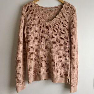 LOFT blush knit sweater